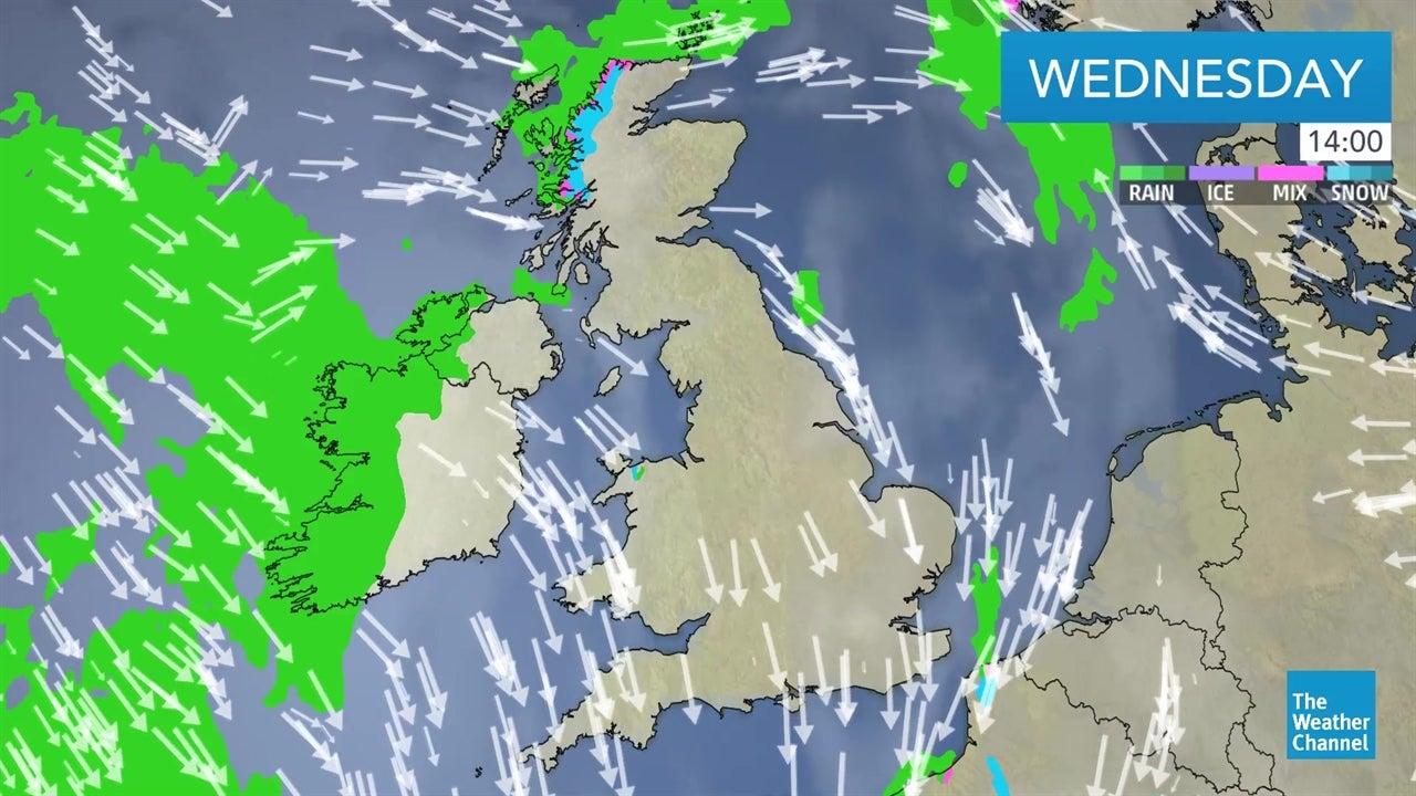 video  latest uk weather forecast