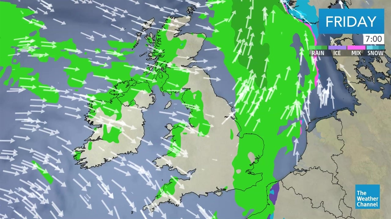 latest uk weather forecast from january 25 the weather. Black Bedroom Furniture Sets. Home Design Ideas