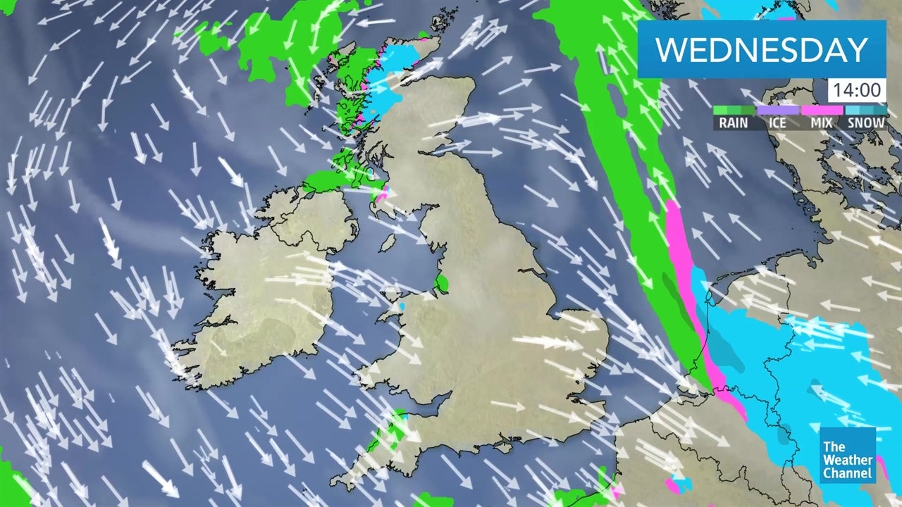 latest uk weather forecast from january 30