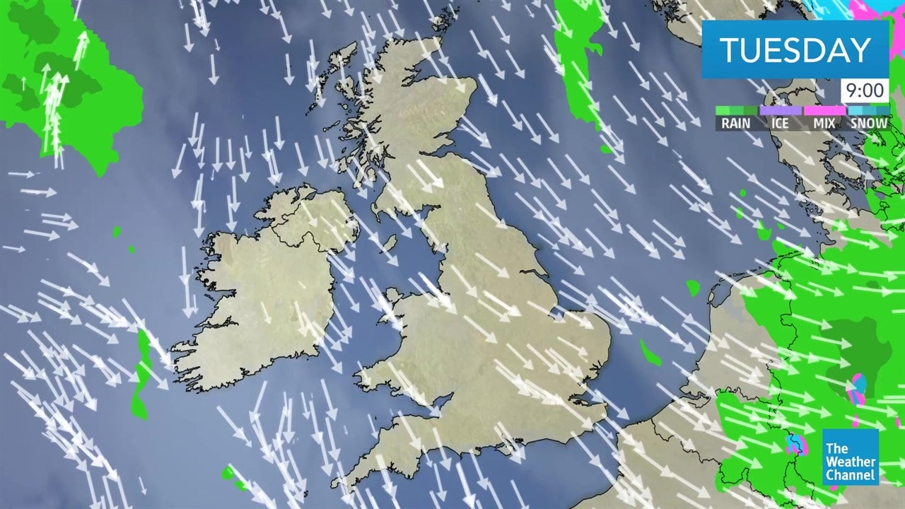 video  latest uk weather forecast from january 8