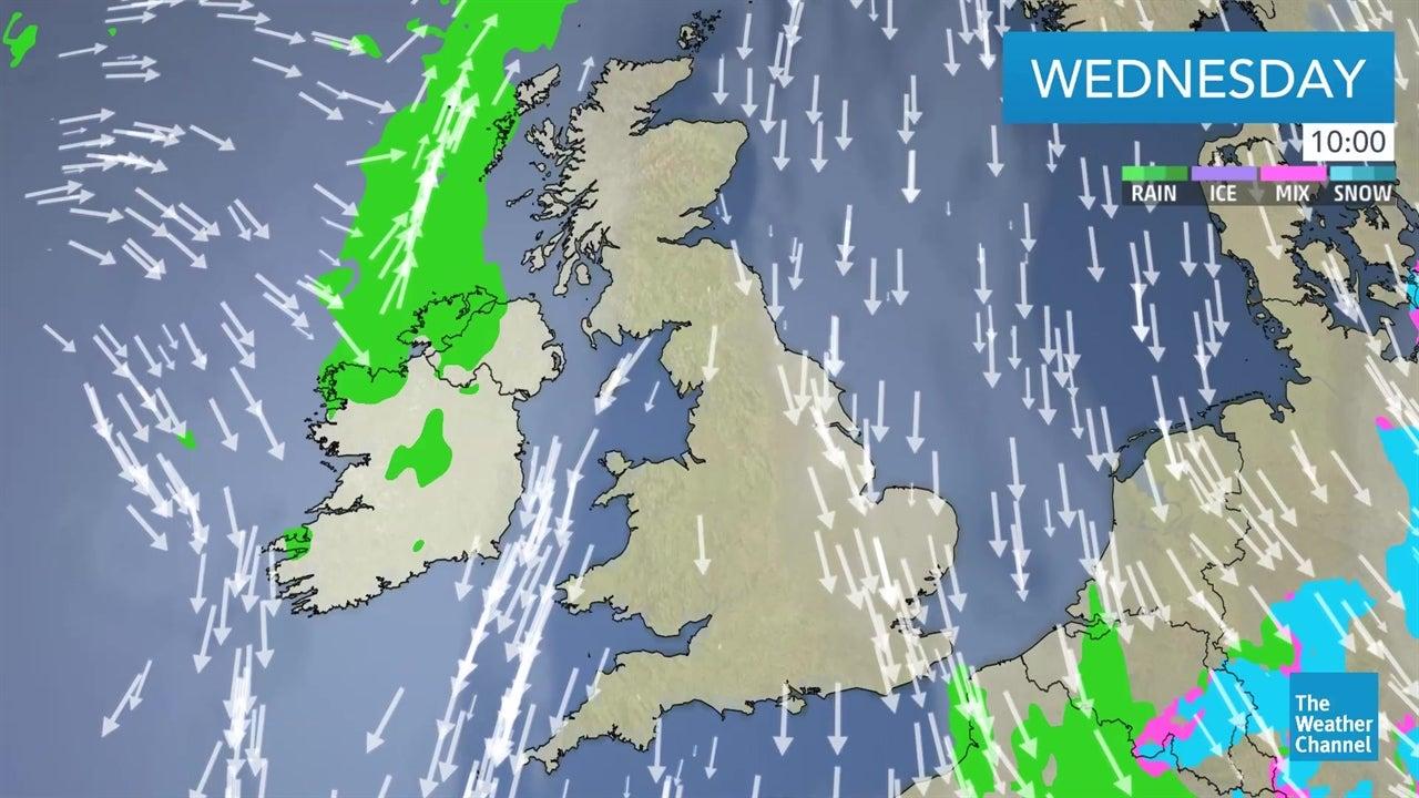 video  latest uk weather forecast january 9