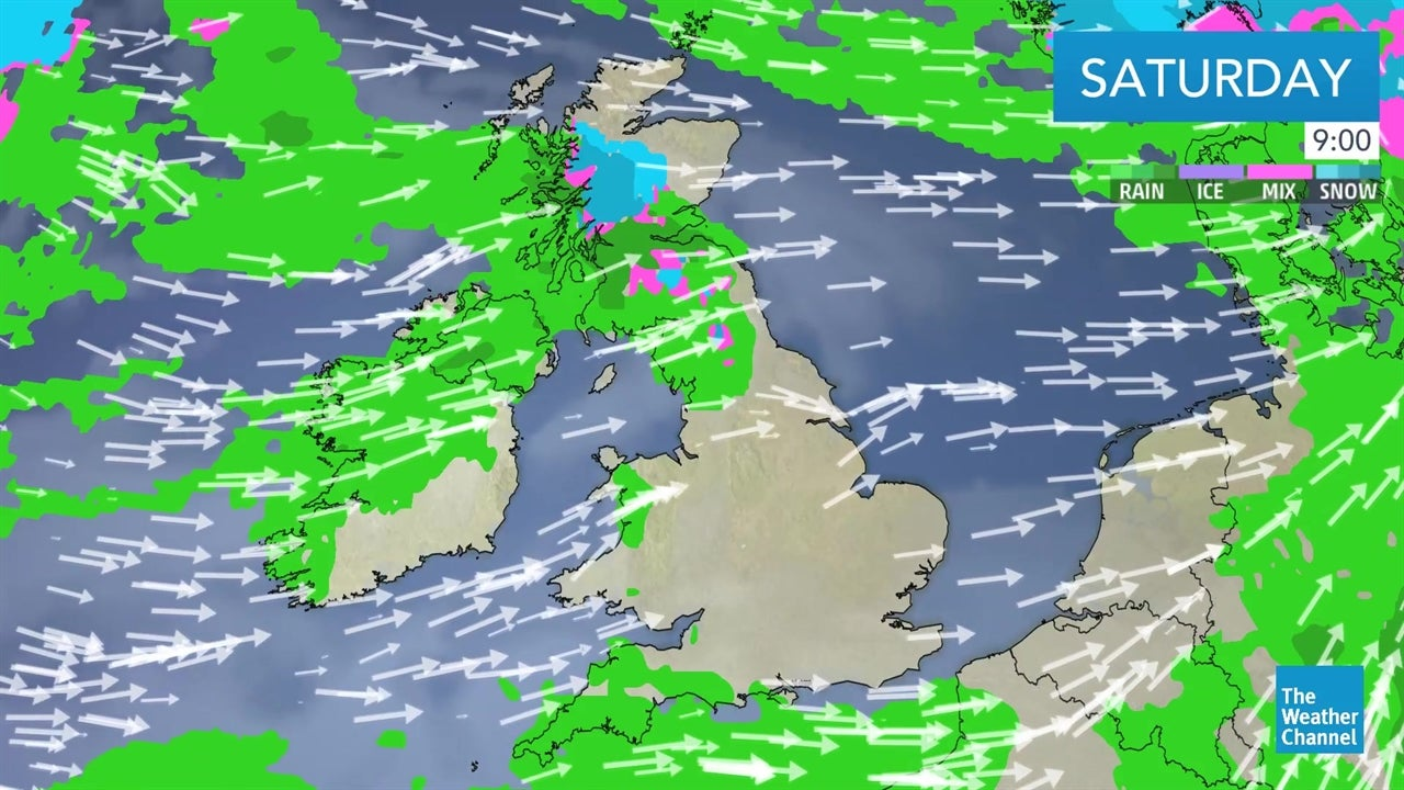 Latest UK forecast: Outlook for the weekend - March 8