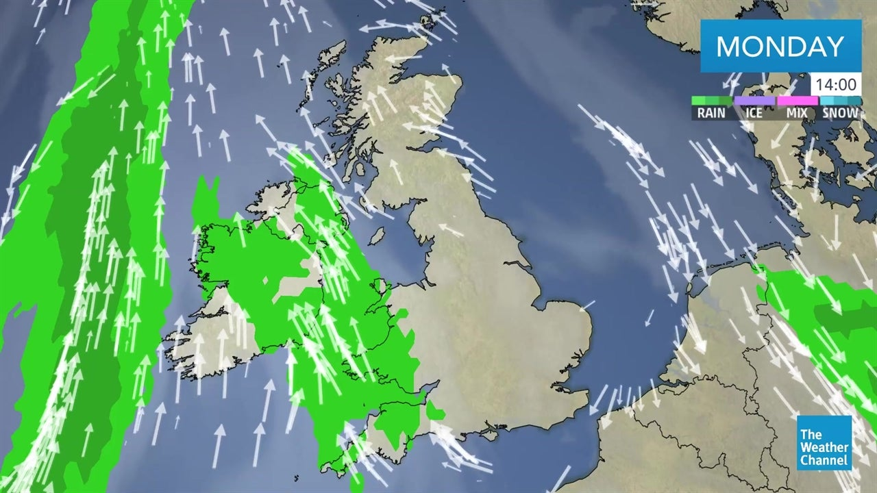 Here's the latest detailed weather forecast for the UK and Ireland on April 29