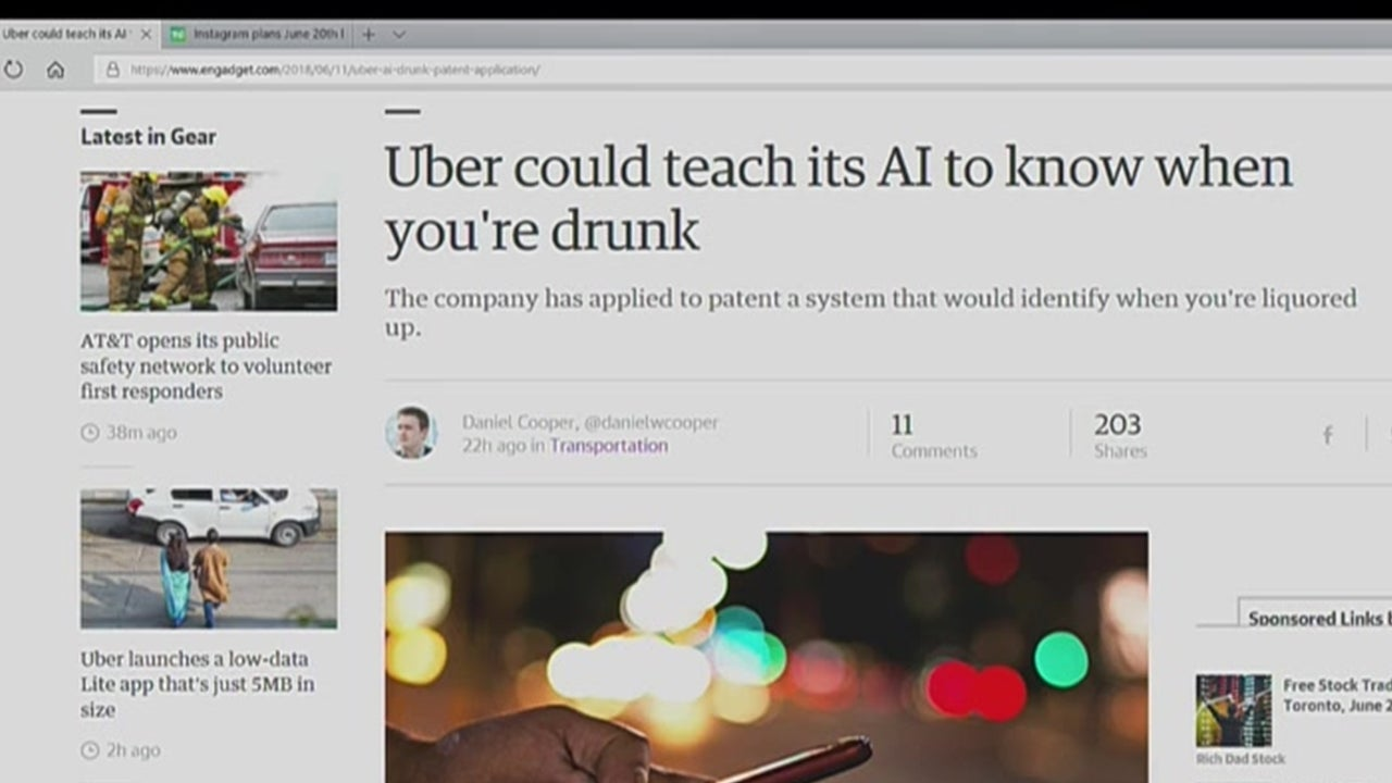 Uber Looks to AI to Identify Intoxicated Passengers