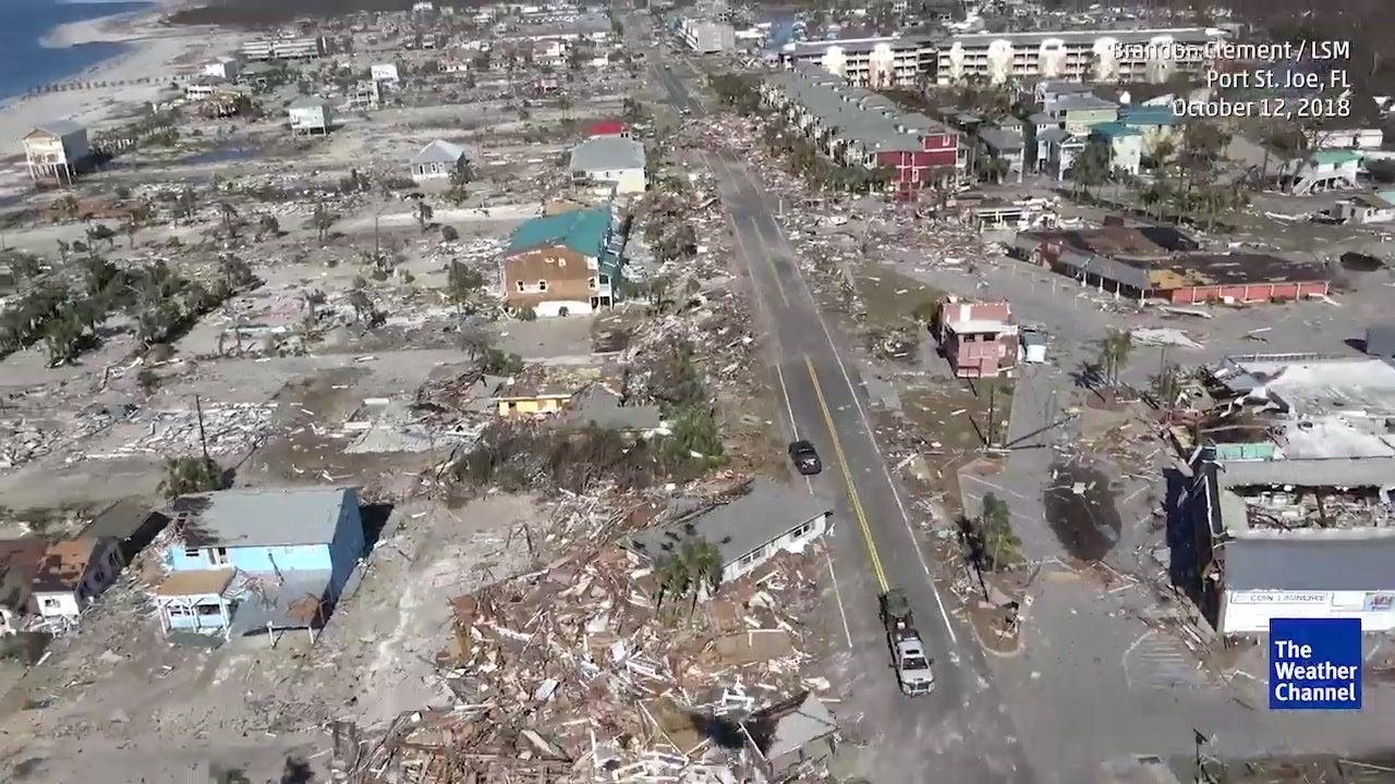 Stunning, Unedited Look at Hurricane Michael's Devastation