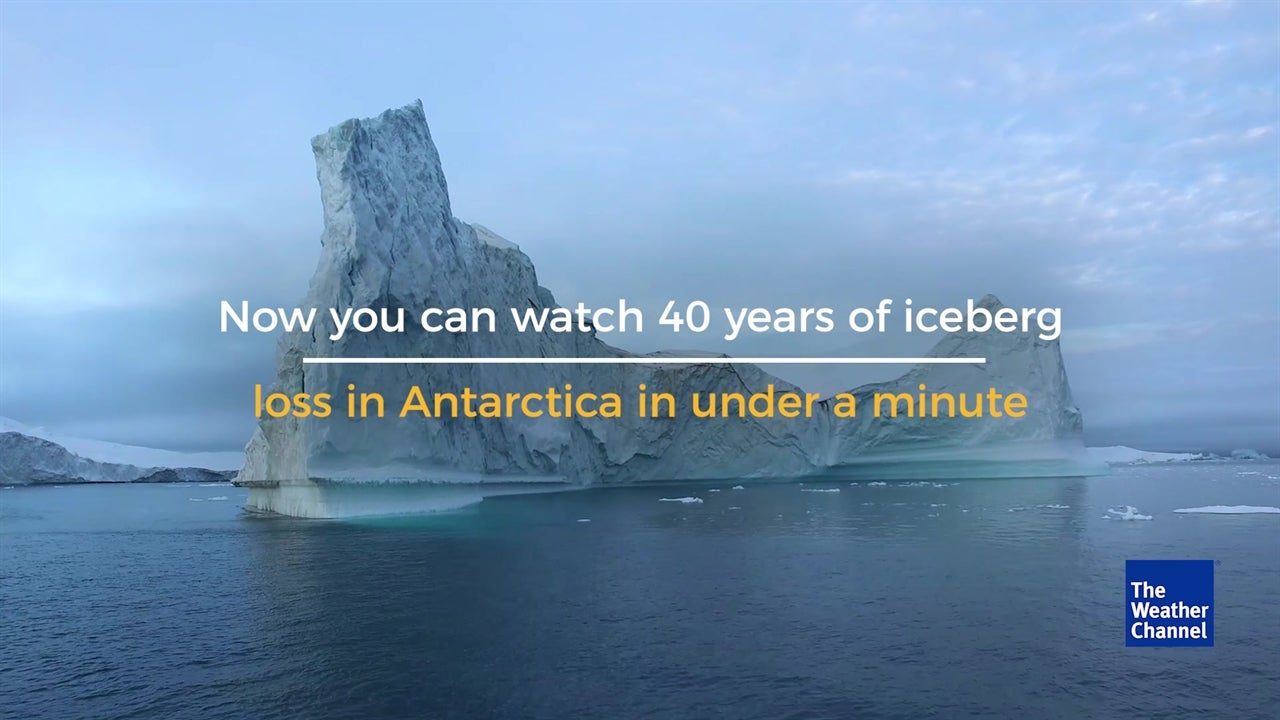 WATCH: 40 years of icebergs breaking off Antarctica