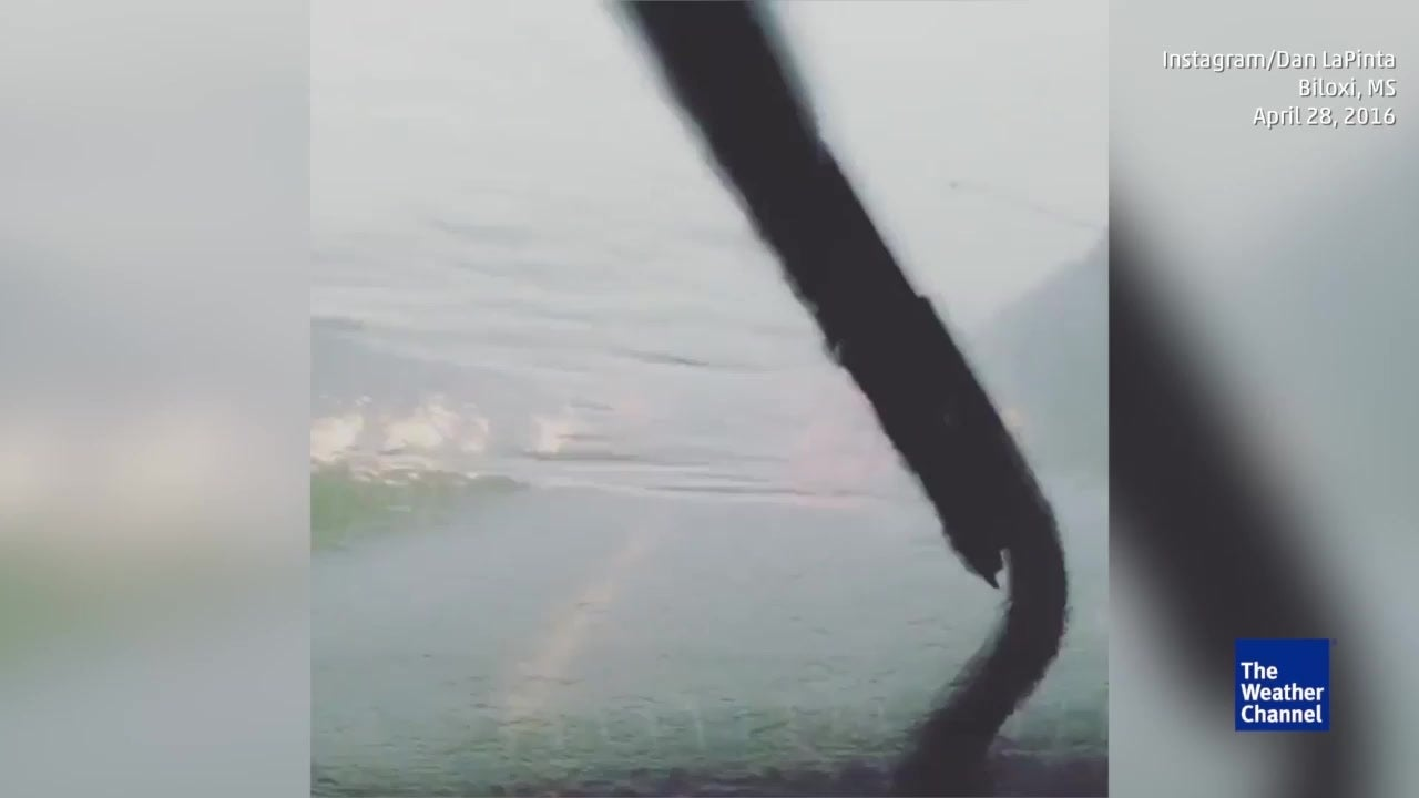 Southern Mississippi Under Flash Flood Warning Videos From The