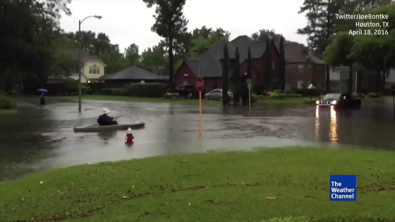 boating in the streets of houston  texas