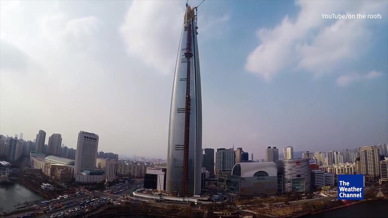 Daredevils Scale Huge South Korea Tower