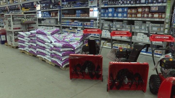Lowe's keeping supplies high as winter wears on