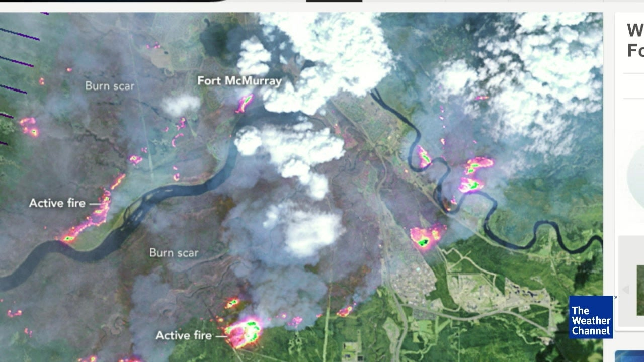 See Canadian Wildfire From Space The Weather Channel