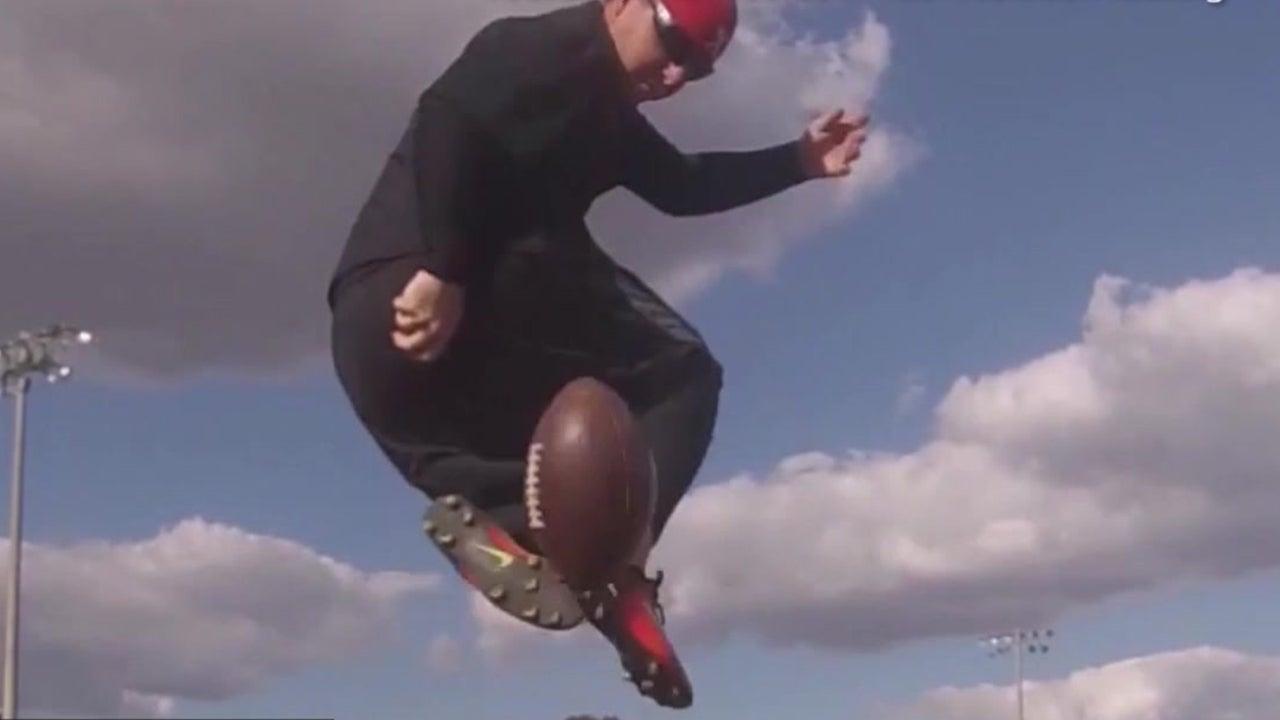 Watch Football Kicker Land Near-Impossible Shots
