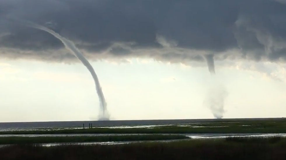 Double Waterspouts Spotted Off Florida Coast