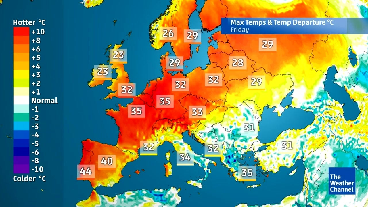 How Hot Is It Going To Get In Europe This Weekend The Weather Channel