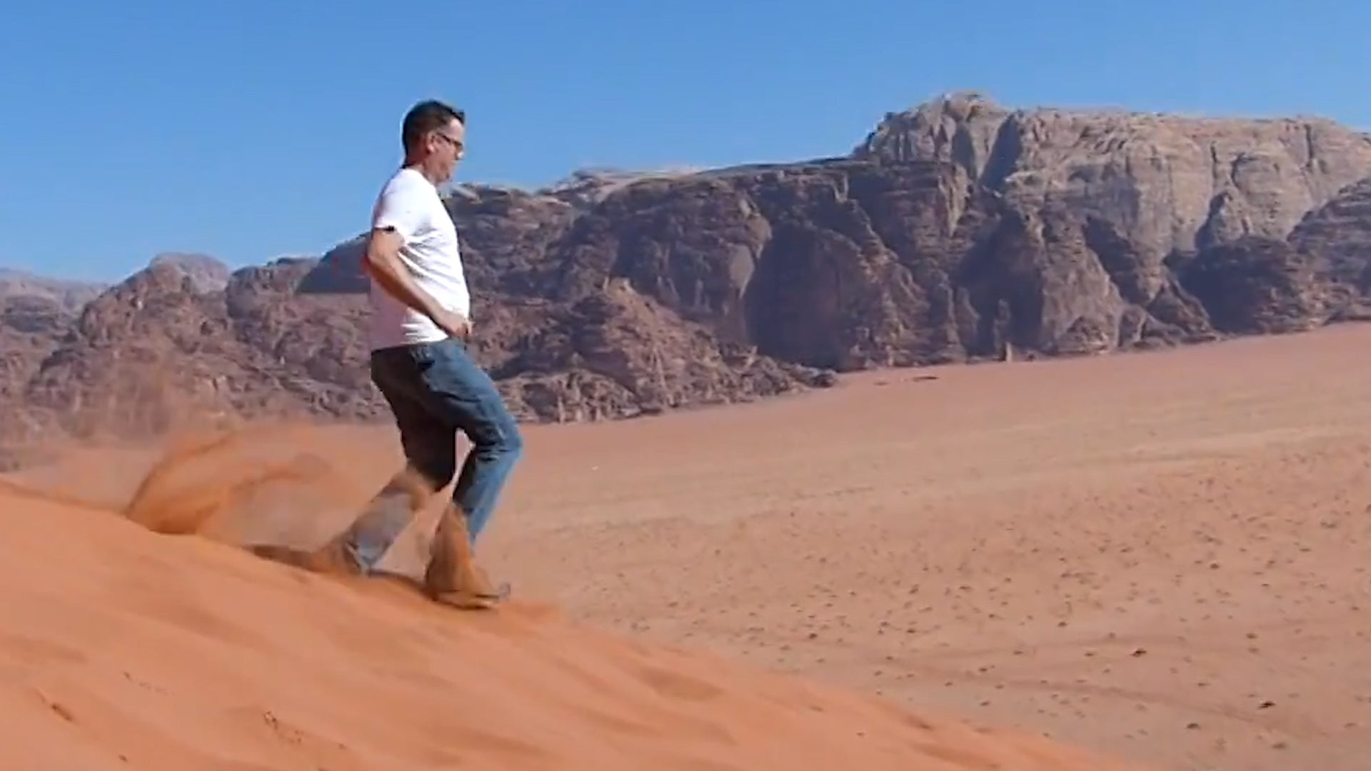 An Unexpected Run Down Jordan's Sand Dunes