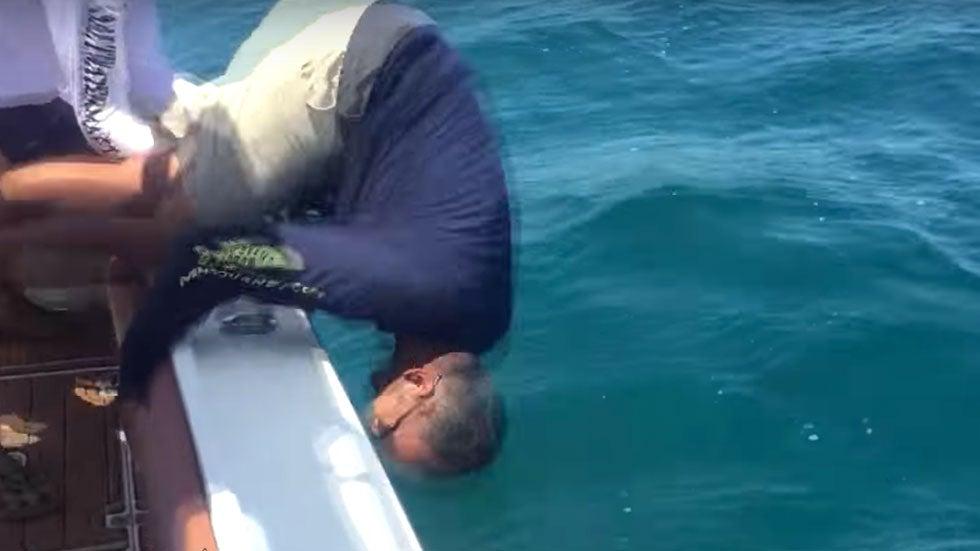 Grouper Yanks Florida Fisherman