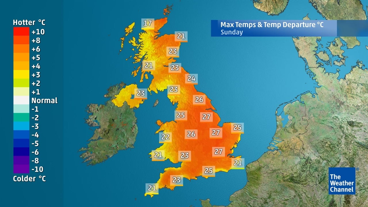 How hot is it going to be in the UK this weekend and beyond?