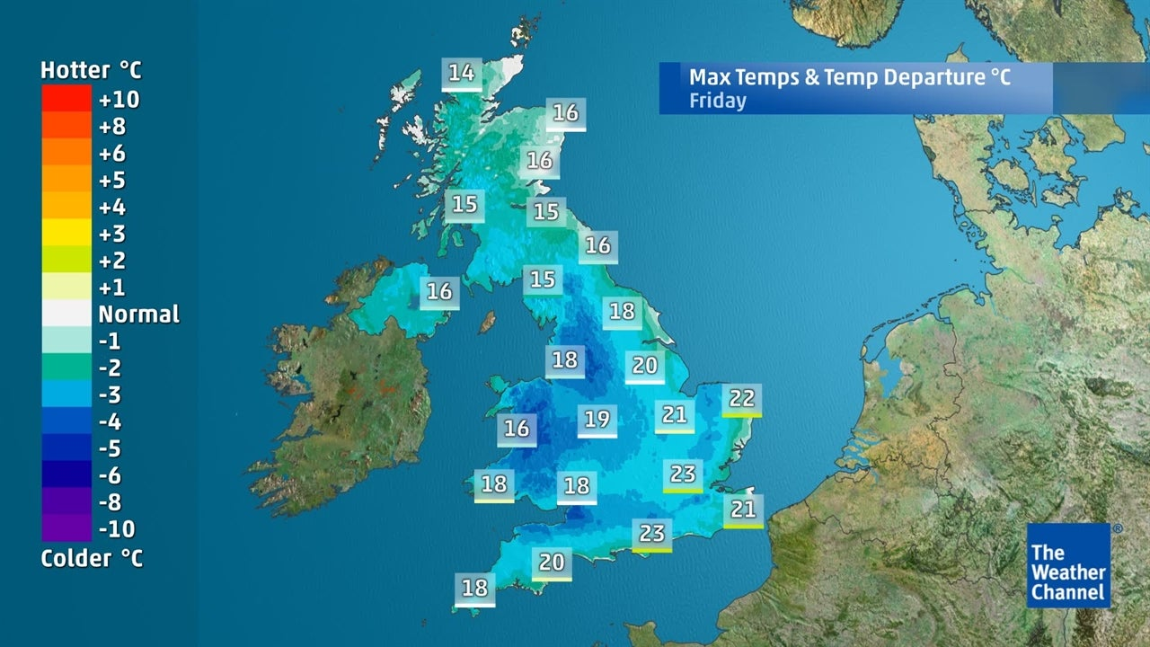 Bank holiday weekend: Latest temperature forecast