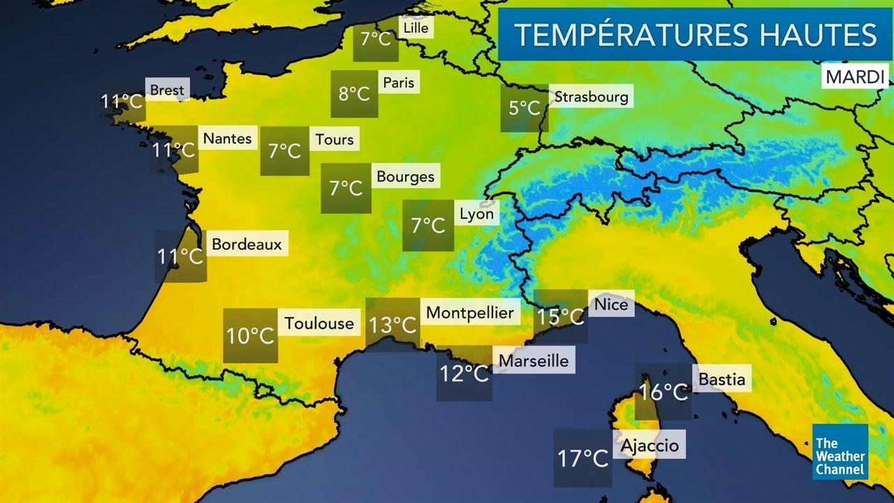 La météo du mardi 11 décembre