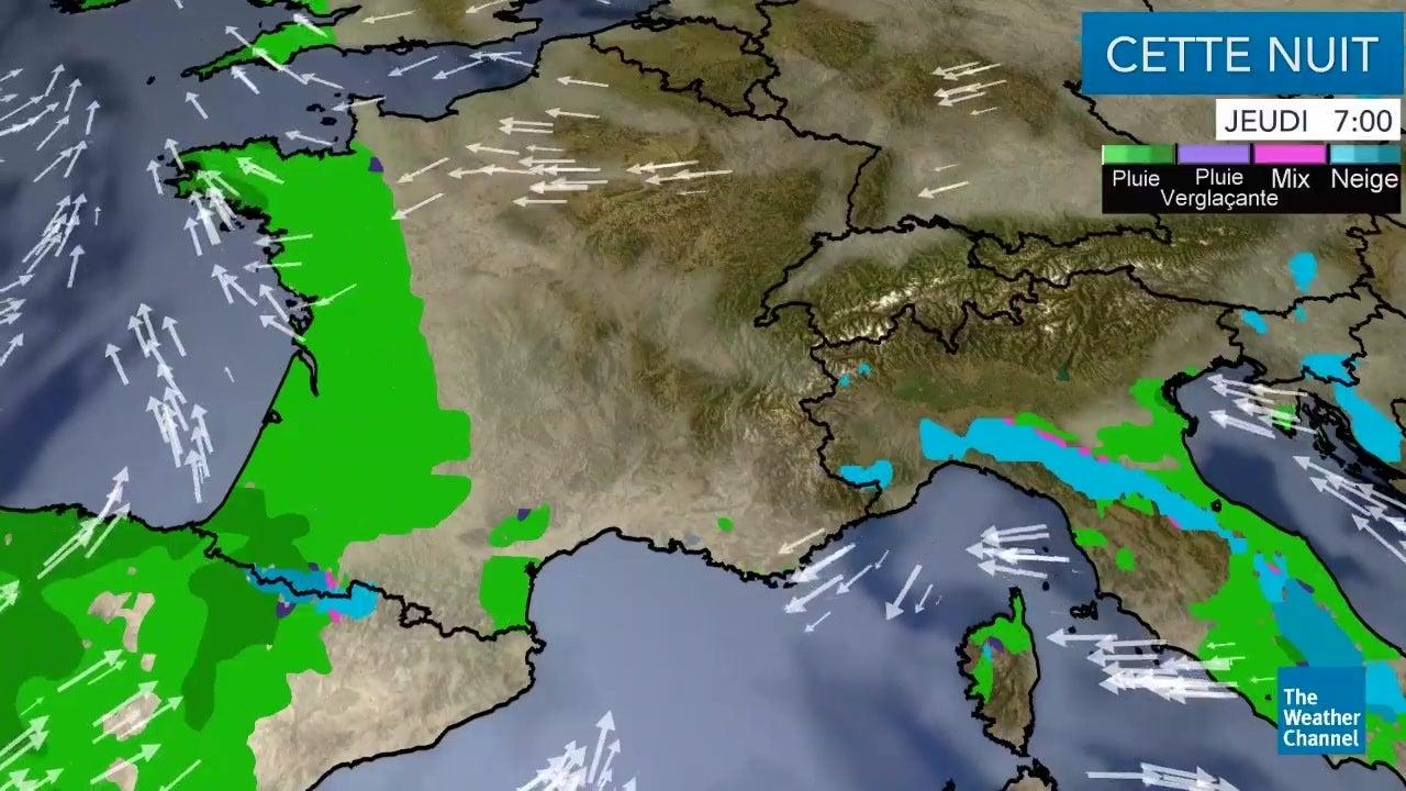 La météo du jeudi 13 décembre
