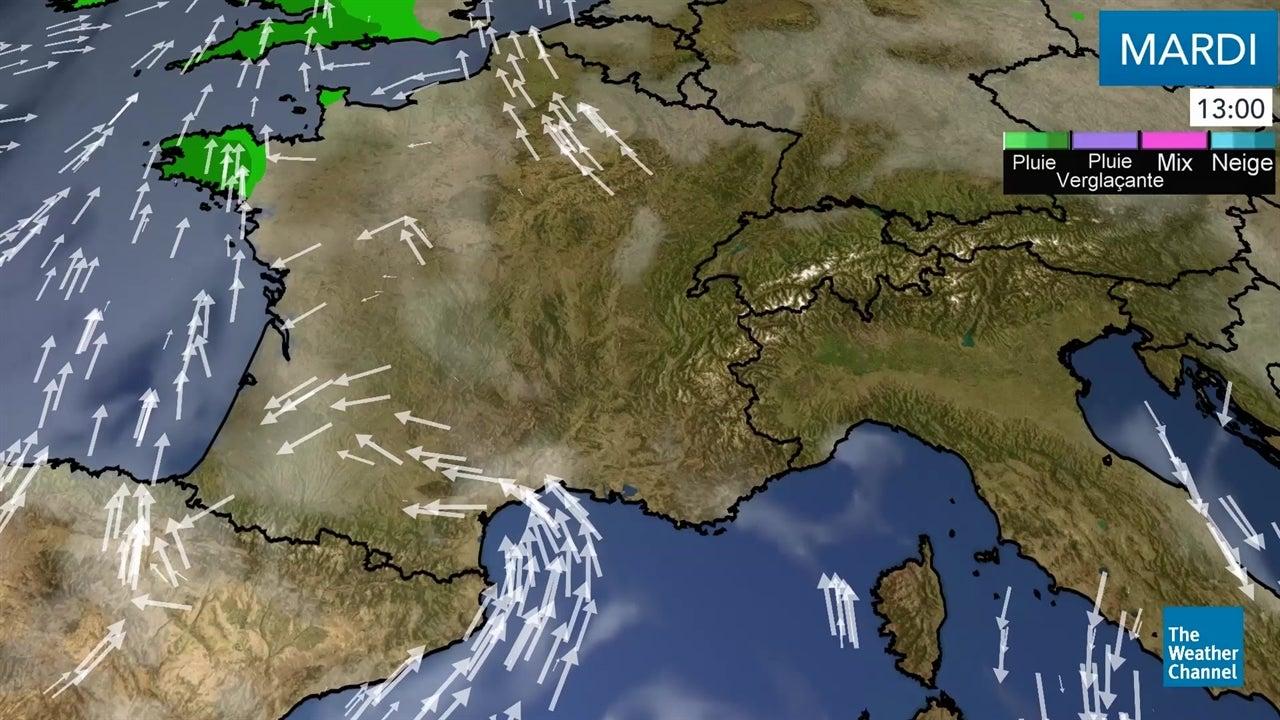 La météo du mardi 18 décembre