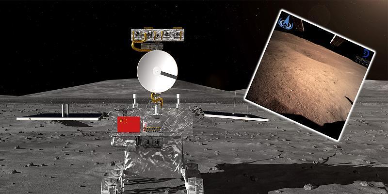 Mondsonde Chang'e 4 sendet das erste Bild der Rückseite des Mondes