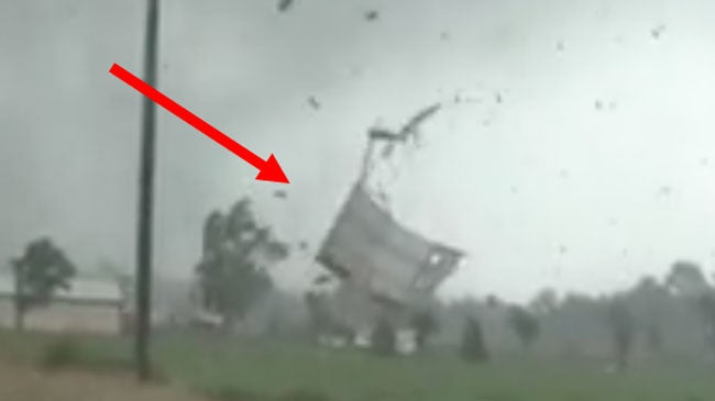 tornado whipping up debris in ohio