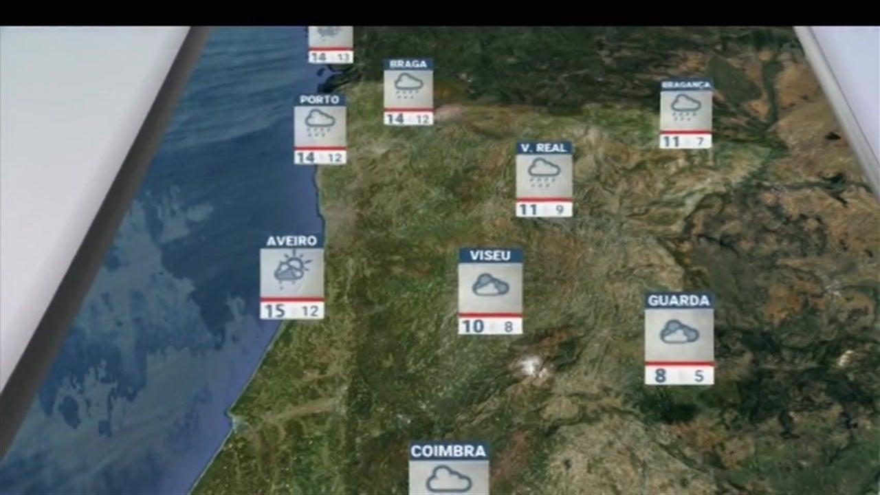 Previsão do tempo para hoje à noite