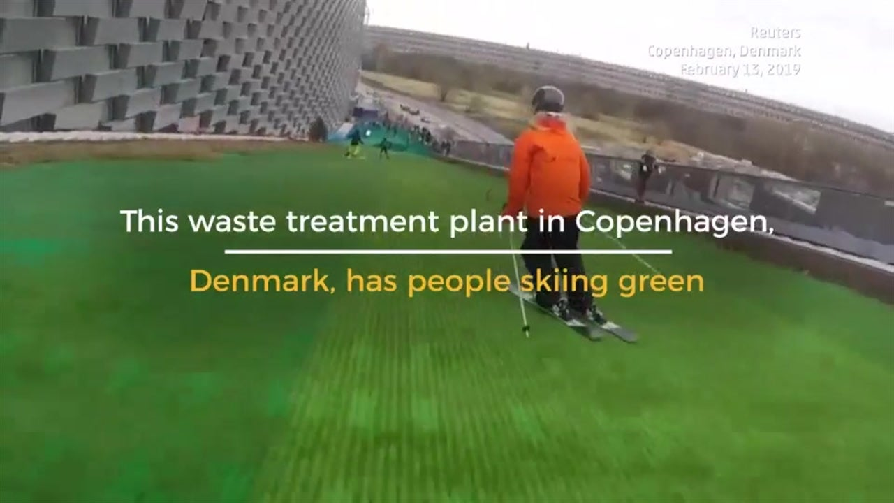 Mountain of Trash Becomes Ski Slope in Copenhagen