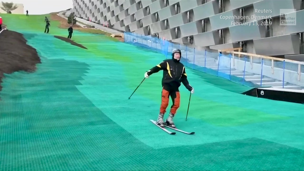 Esquiando… sobre basura