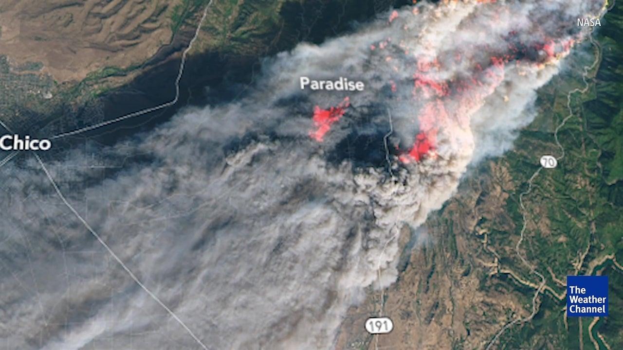 Mira desde el espacio los incendios de California