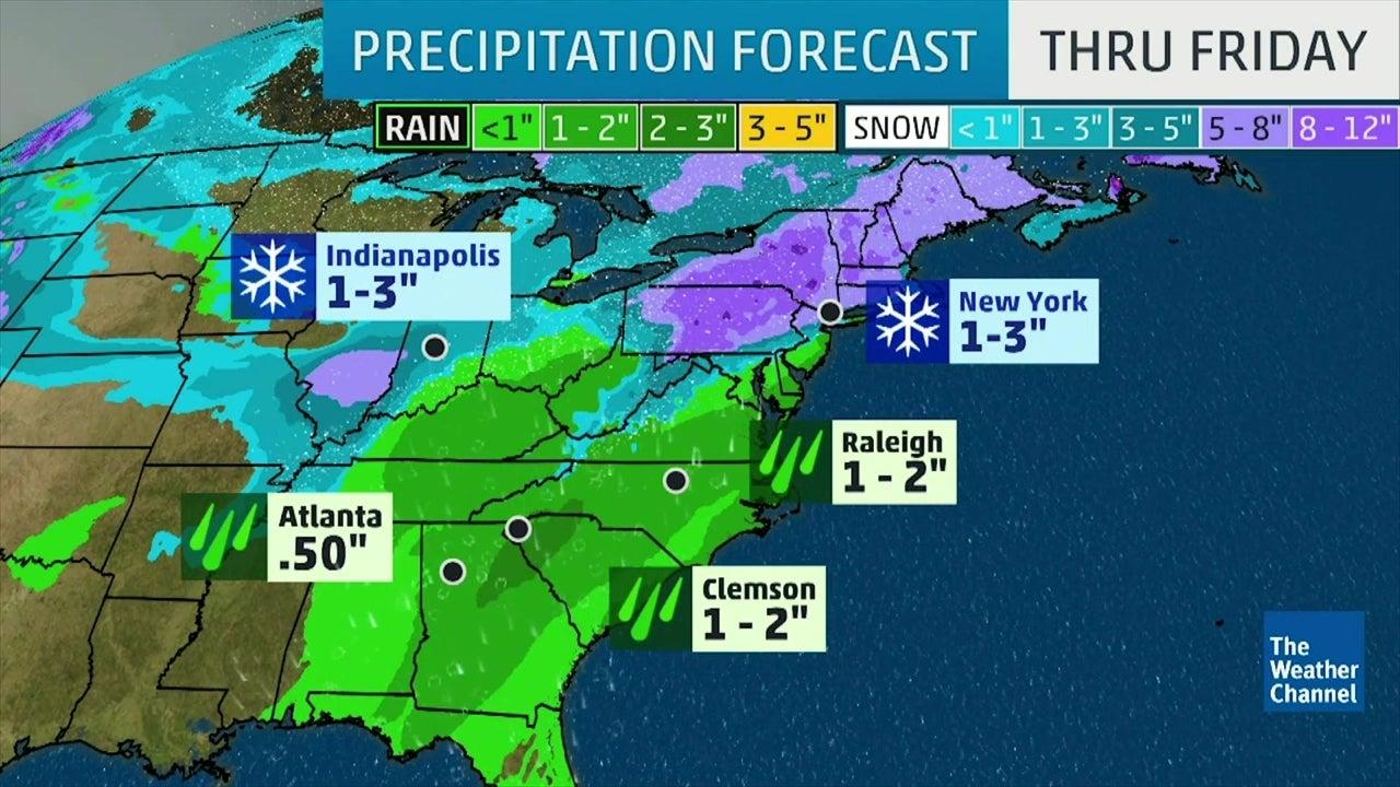 Tormenta Invernal Avery traerá nieve y lluvia
