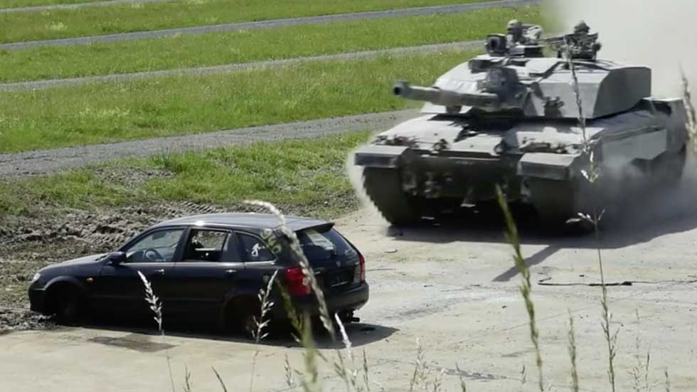 Militaries Crush Cars in 2018 Strong Europe Tank Challenge