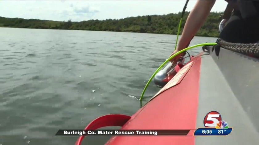 Burleigh County water rescue training