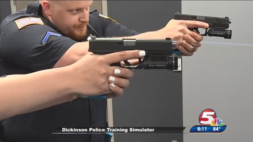 Dickinson police officers feel locked, loaded after simulator training