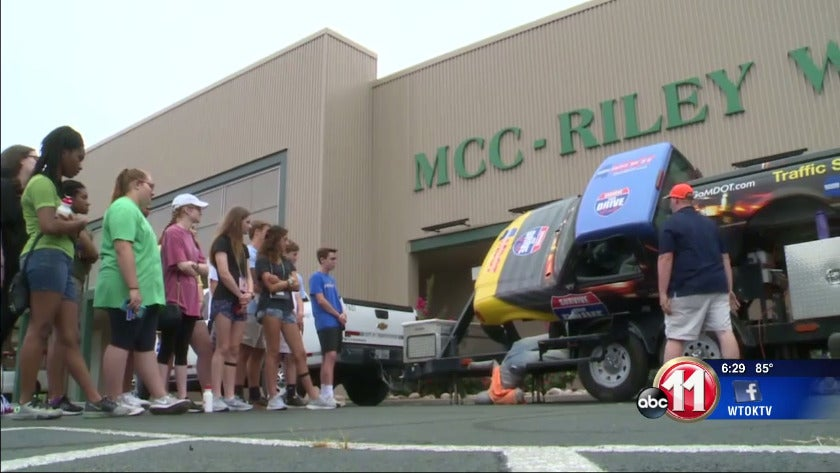 Young drivers learn road safety tips