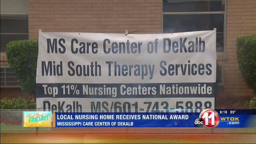 Mississippi Care Center of DeKalb receives national award