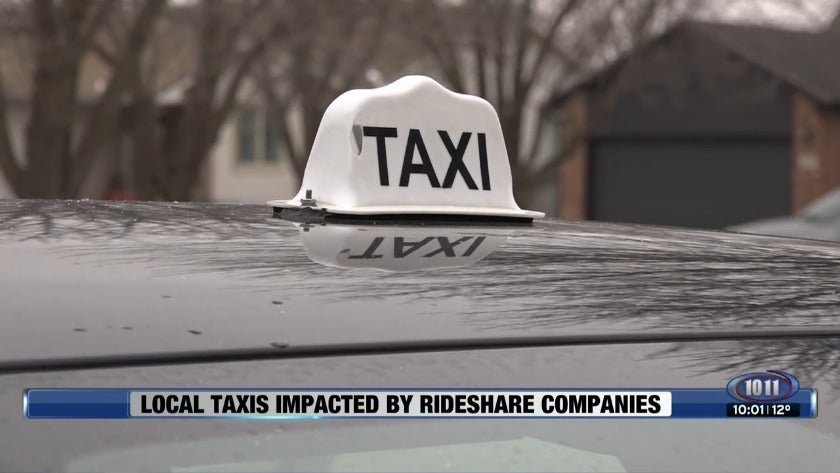 Local taxis impacted by rideshare companies
