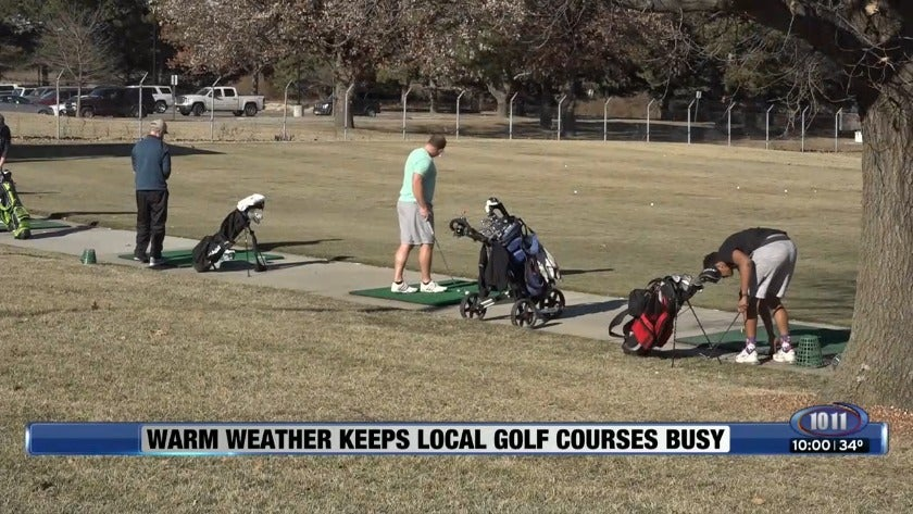 Warm weather keeps local golf courses busy