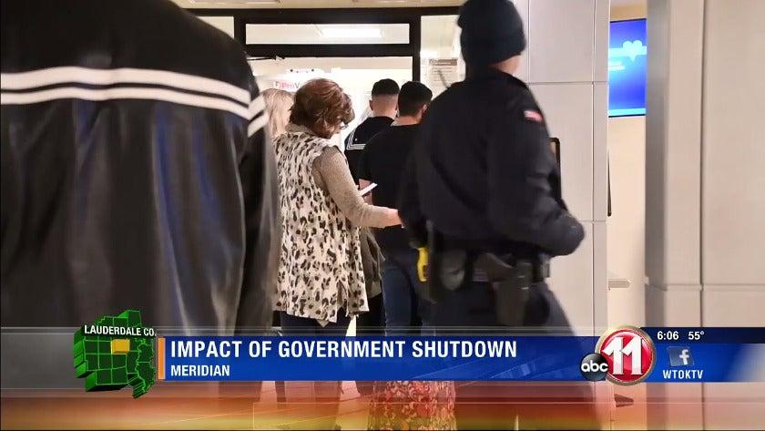 Effect of government shutdown felt in Meridian