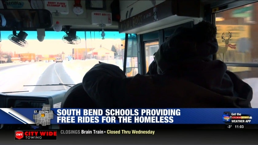 South Bend schools provide bus rides to help homeless