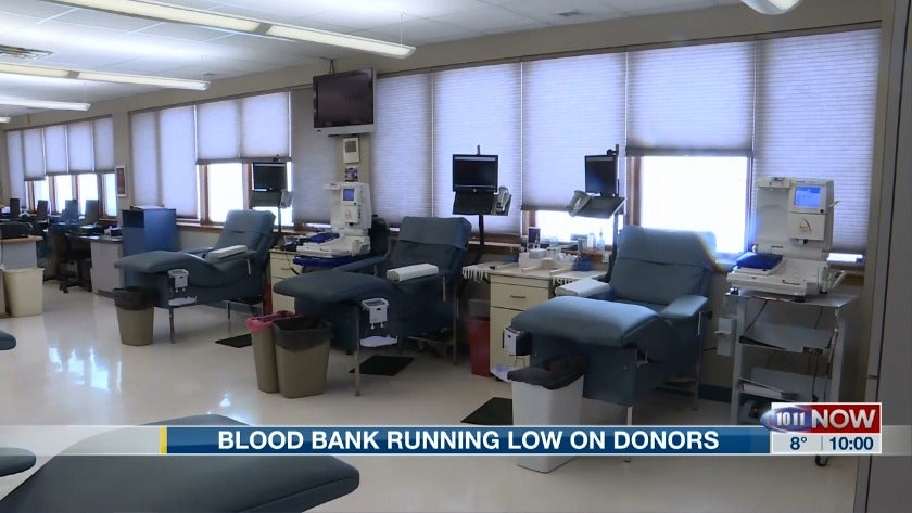 Blood Bank critically low on donors