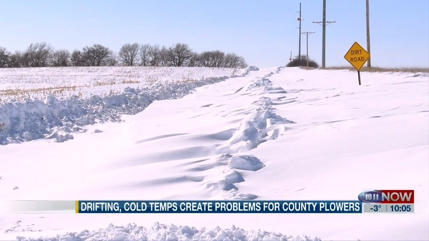 County struggles to keep roads free of snow