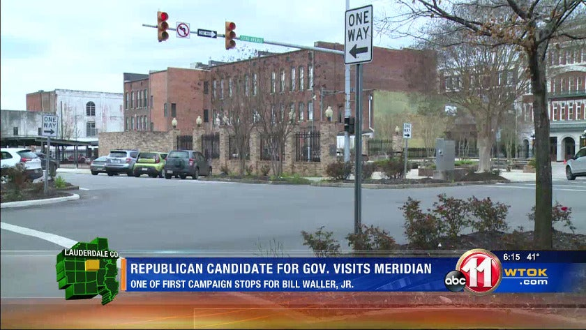 Gubernatorial candidate visits Meridian Monday