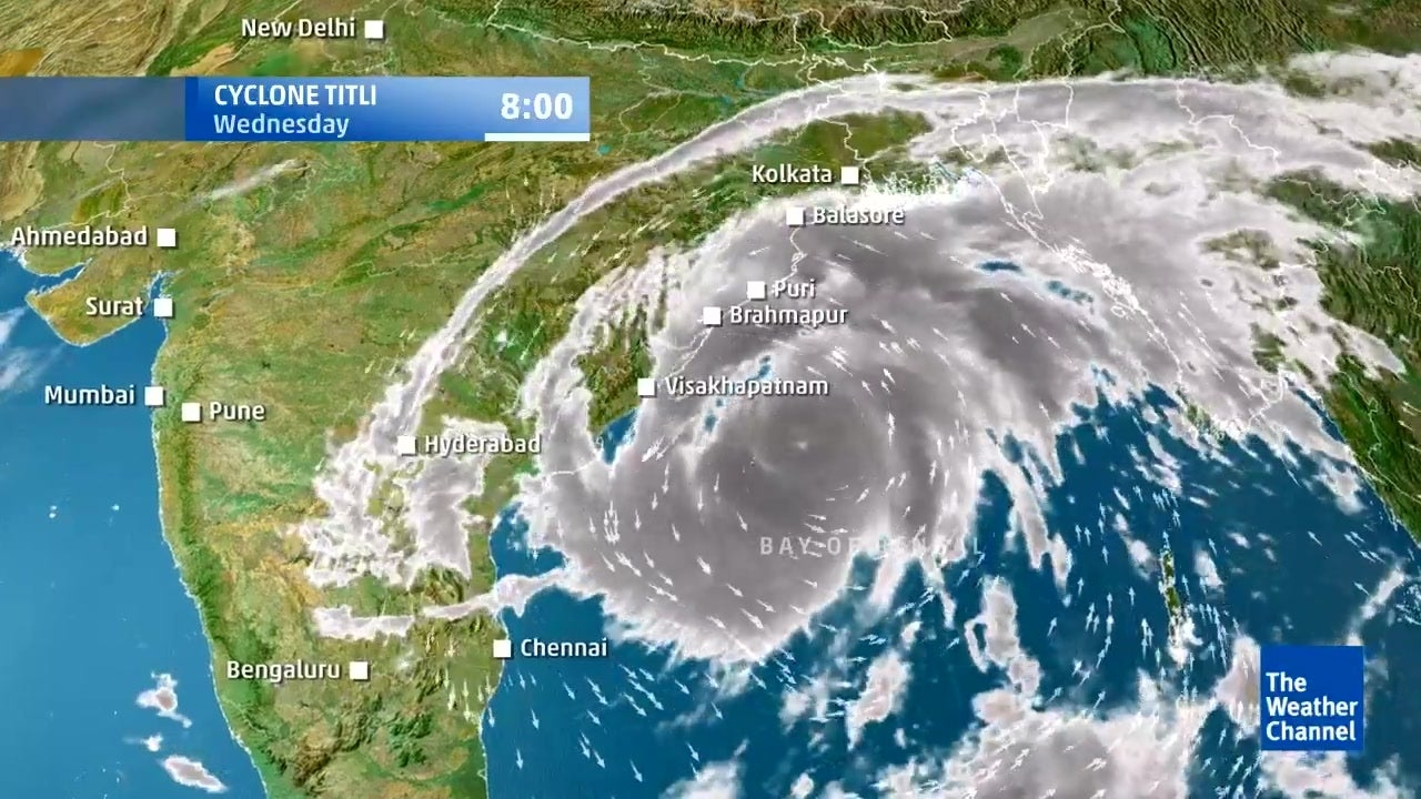 Movement of Tropical Cyclone Titli