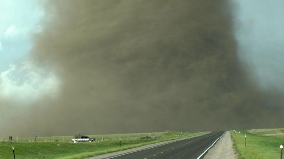 Stunning Massive Tornado Touches Down Near Laramie